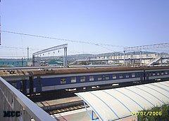 Железнодорожный вокзал города Новороссийска