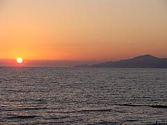 Заход солнца над Сочи.
