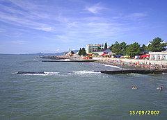 Пляж центральной части Адлера