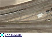 Из космоса видна железнодорожная станция у посёлка Волна
