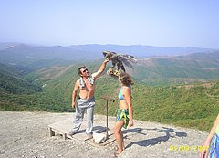 Фотография на вершине горы. Маркотхский хребет Кавказа. Недалеко от Геленджика