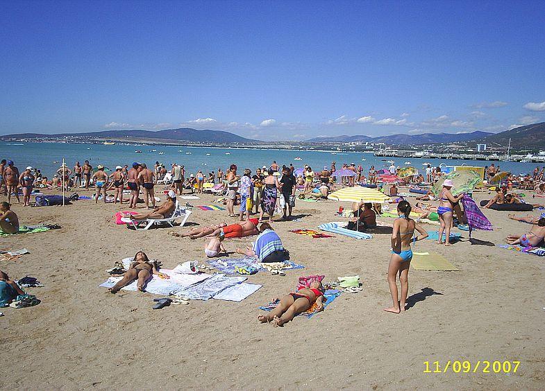 фото пляжей геленджика