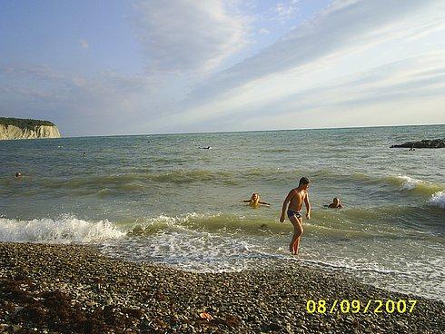 На пляже в Дивноморске