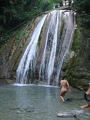 На первом водопаде