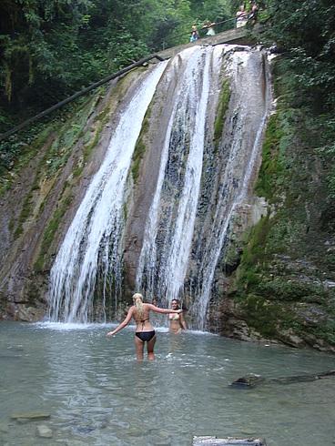 Водопады реки Шахе. Русалки.